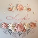 Paper flower decor in a nursery