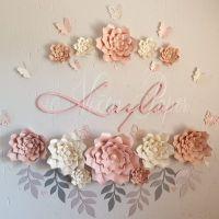 Paper flower decor in a nursery