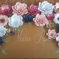 Set of 20 paper flowers